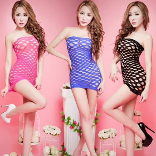 Fishnet Sleeveless Dress 2