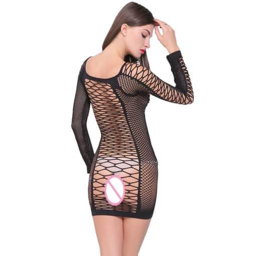 Fishnet Sleeved Dress 5