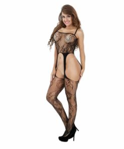 Open Crotch Fishnet Bodysuit 2
