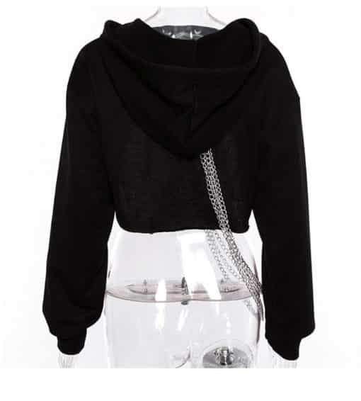 Chained Crop Hoodie 4