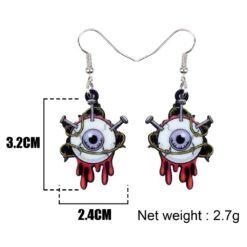 Bonsny Acrylic Halloween Horrible Eyeball Earrings Drop Dangle Big Long Fashion Punk Jewelry For Women Girls Party Charms Bulk 4