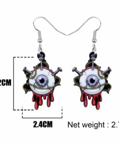 Bonsny Acrylic Halloween Horrible Eyeball Earrings Drop Dangle Big Long Fashion Punk Jewelry For Women Girls Party Charms Bulk 4