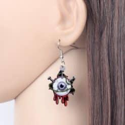 Bonsny Acrylic Halloween Horrible Eyeball Earrings Drop Dangle Big Long Fashion Punk Jewelry For Women Girls Party Charms Bulk 3