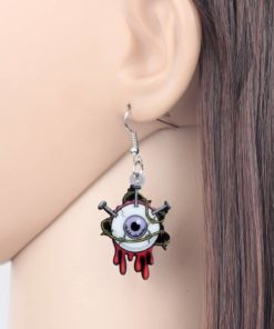 Bonsny Acrylic Halloween Horrible Eyeball Earrings Drop Dangle Big Long Fashion Punk Jewelry For Women Girls Party Charms Bulk 3