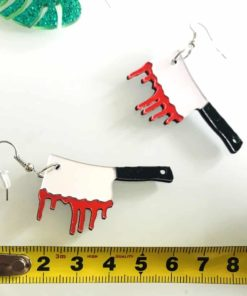 Halloween Personalized Cosplay Knife Acrylic Drop Earrings Exaggerated Funny Acrylic Earrings for Women Cool Jewelry Accessaries 3
