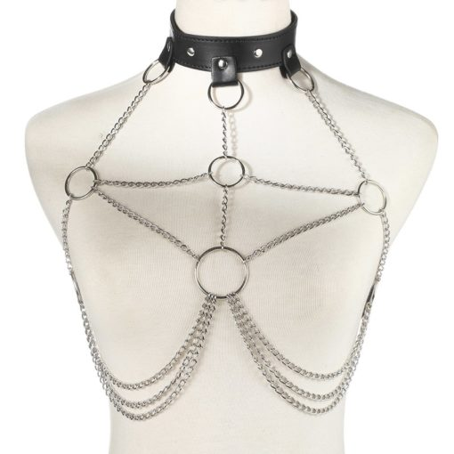 PU Leather & Chains