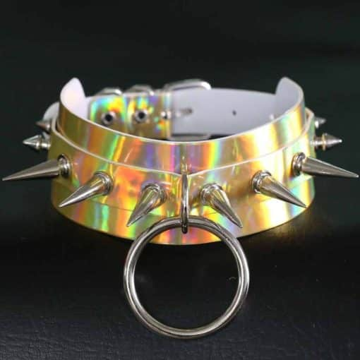 Holographic Spiked O Ring 2
