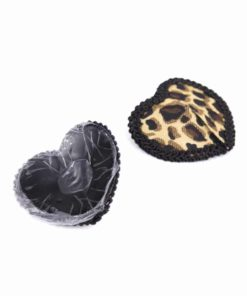 Women Leopard Nipple Cover Stickers Sexy Tepel Cover Reusable Pasties Self Adhesive Breast Tape Petals