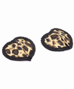 Women Leopard Nipple Cover Stickers Sexy Tepel Cover Reusable Pasties Self Adhesive Breast Tape Petals 1