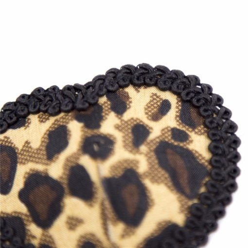 Women Leopard Nipple Cover Stickers Sexy Tepel Cover Reusable Pasties Self Adhesive Breast Tape Petals 5