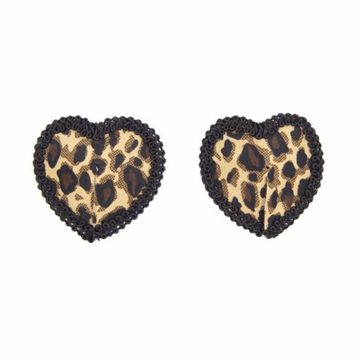 Women Leopard Nipple Cover Stickers Sexy Tepel Cover Reusable Pasties Self Adhesive Breast Tape Petals 2