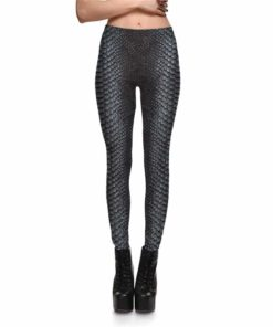 Leggings Fitness Snake Skin Gray Color Styles Women's Leggings Fashion Stretch Digital Print Pants Trousers Plus Size