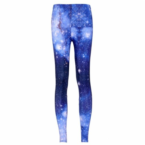 supernova sale Women Pants Space Print Leggings Milk Leggings Punk Fitness Pants Drop Shipping