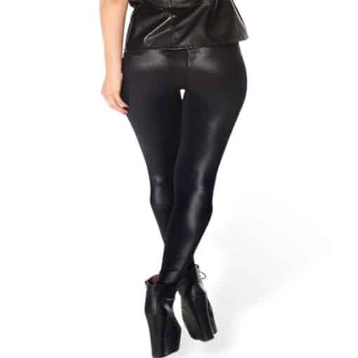 Wholesale DROP Shipping!  Women's Stretchy Digital Printed Pants Lady Elastic Sexy Hot Wet Look Black Leggings 3