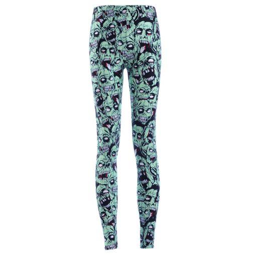 Leggings Drop shipping Women Fashion Leggings Sexy Green zombie Printing LEGGINGS Size S-4XL Wholesale 2