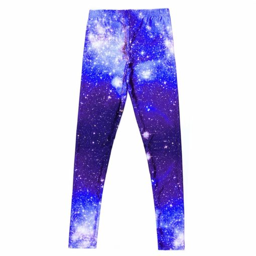 supernova sale Women Pants Space Print Leggings Milk Leggings Punk Fitness Pants Drop Shipping 3
