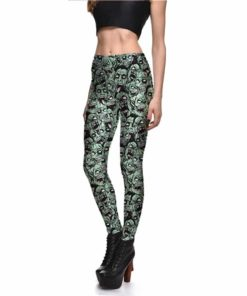 Leggings Drop shipping Women Fashion Leggings Sexy Green zombie Printing LEGGINGS Size S-4XL Wholesale 1