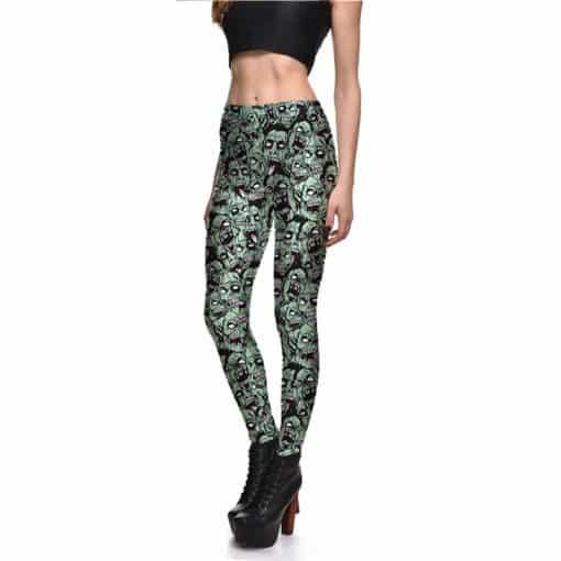 Leggings Drop shipping Women Fashion Leggings Sexy Green zombie Printing LEGGINGS Size S-4XL Wholesale 1