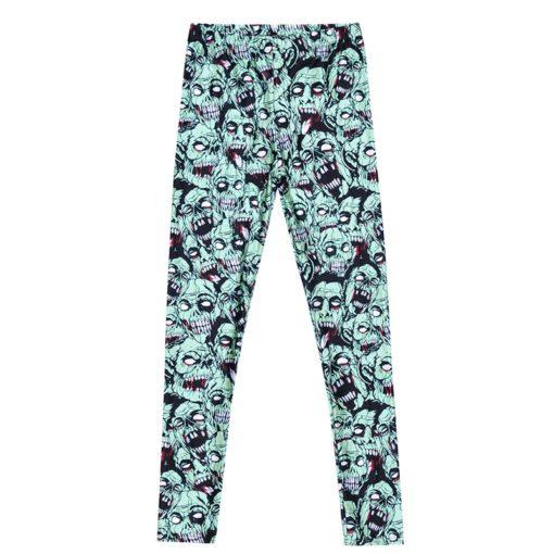 Leggings Drop shipping Women Fashion Leggings Sexy Green zombie Printing LEGGINGS Size S-4XL Wholesale 4