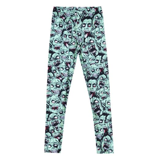 Leggings Drop shipping Women Fashion Leggings Sexy Green zombie Printing LEGGINGS Size S-4XL Wholesale 5