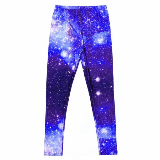 supernova sale Women Pants Space Print Leggings Milk Leggings Punk Fitness Pants Drop Shipping 2