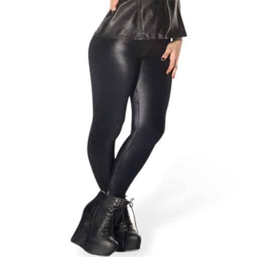 Wholesale DROP Shipping!  Women's Stretchy Digital Printed Pants Lady Elastic Sexy Hot Wet Look Black Leggings 2
