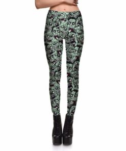 Leggings Drop shipping Women Fashion Leggings Sexy Green zombie Printing LEGGINGS Size S-4XL Wholesale