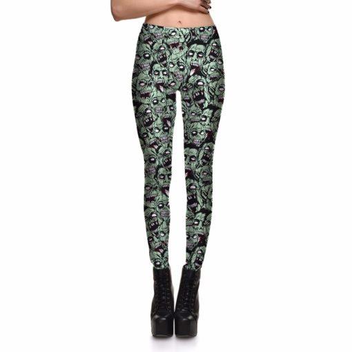 Leggings Drop shipping Women Fashion Leggings Sexy Green zombie Printing LEGGINGS Size S-4XL Wholesale