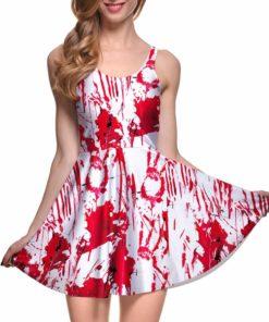 Drop Ship Fashion Women Dress A-line Digital Print WHAT A MESS REVERSIBLE SKATER DRESS vestidos mujer tallas grandes