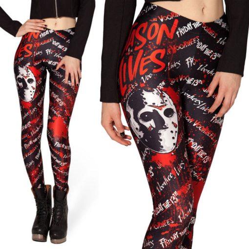 Fashion Ladies Women Skull Legging Woman Jeggings Legings Fitness Legging Pant Pants Printed Leggings 1