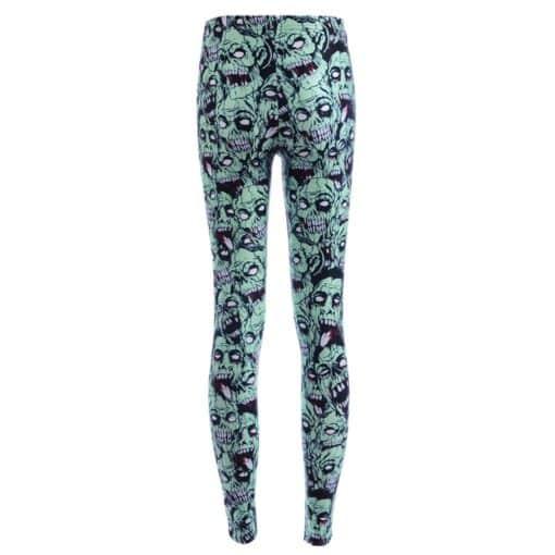 Leggings Drop shipping Women Fashion Leggings Sexy Green zombie Printing LEGGINGS Size S-4XL Wholesale 3