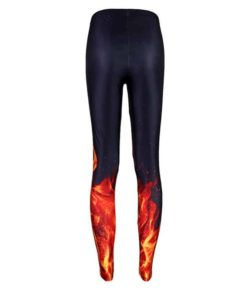 Summer styles Sexy Women Pyrotechnic combustion outbreak 3D design digital printing leggings Leggings Plus size 1