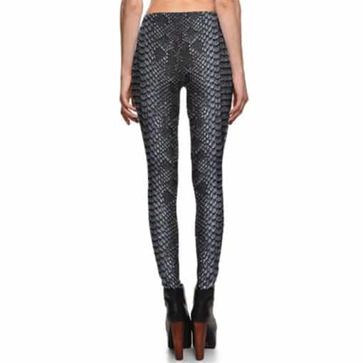 Leggings Fitness Snake Skin Gray Color Styles Women's Leggings Fashion Stretch Digital Print Pants Trousers Plus Size 2