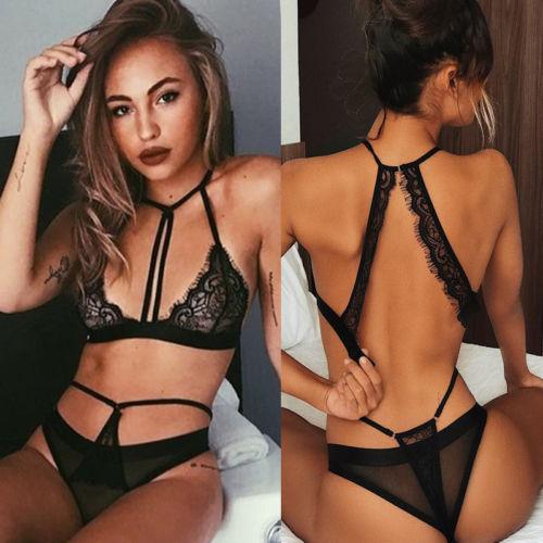 HIRIGIN Newest Sexy-Women's Lace Lingerie Nightwear Underwear Babydoll Sleepwear Tops Bra Briefs