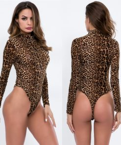 Lepard Sleeved Bodysuit
