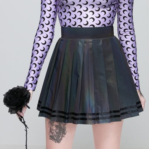 Holographic Mini Skirt 3