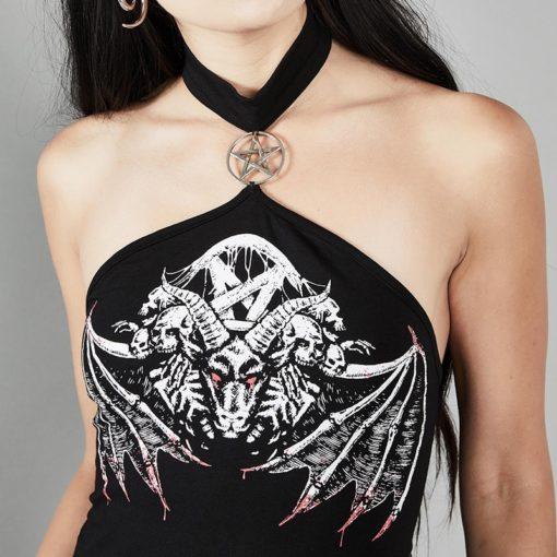 Pentagram Death Demon Top