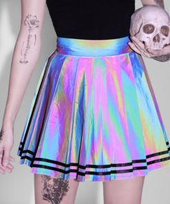 Holographic Mini Skirt