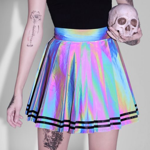 Holographic Mini Skirt