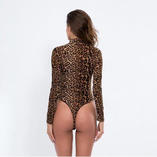 Lepard Sleeved Bodysuit 5