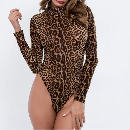 Lepard Sleeved Bodysuit 4