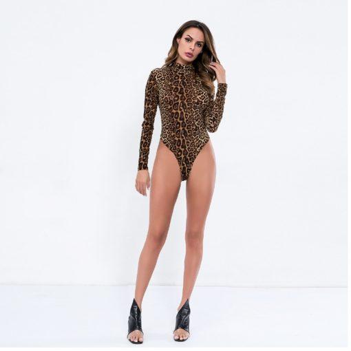 Lepard Sleeved Bodysuit 2