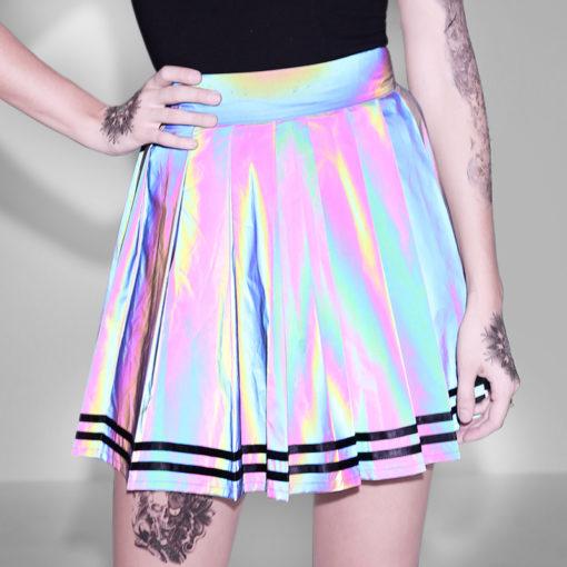 Holographic Mini Skirt 1