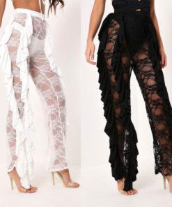 High Waist Lace Pants