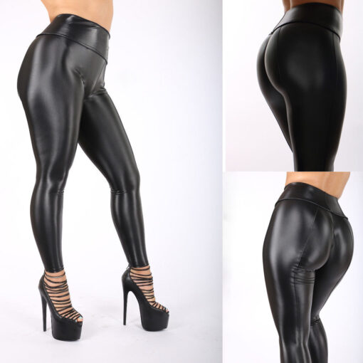 "Faux Leather ""Demon Child"" Leggings 4"