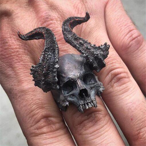 Horned Black Skull 1