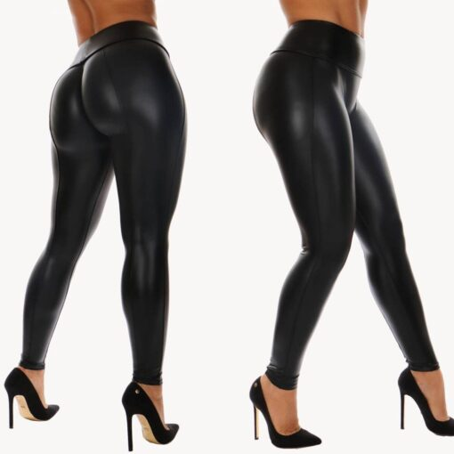 "Faux Leather ""Demon Child"" Leggings 3"