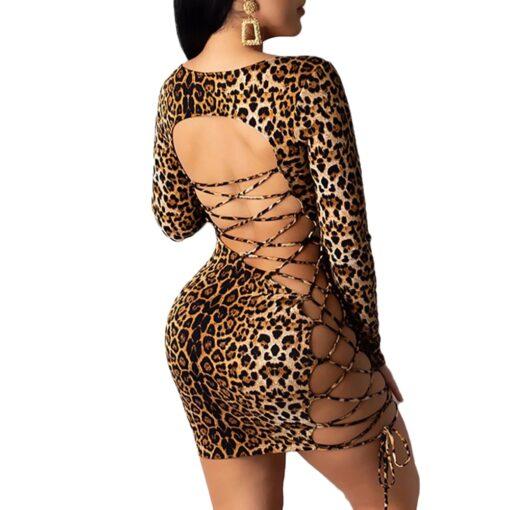 Leopard Backless Dress 3