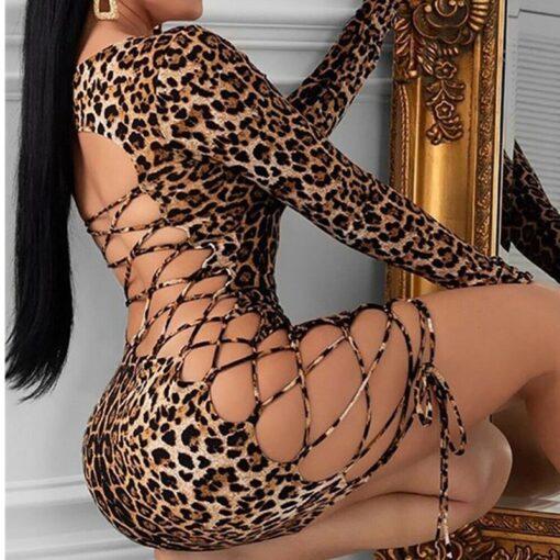 Leopard Mini Dress 1